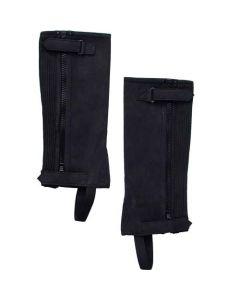 Minichaps elastisch Reißverschluss schwarz