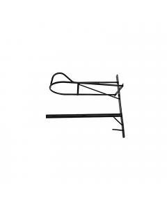 Wand Sattelhalter mit Pad Ablage - Metall, schwarz