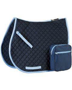 Randol's Wanderreitschabracke mit Taschen marine/hellblau