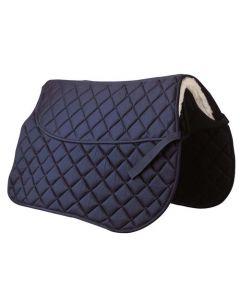 Riding World Schabracke mit Tasche für Sattelunterlage blau