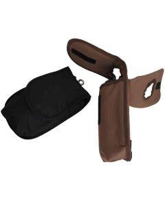 Satteltasche schwarz und braun