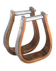 Holz/Metall Westernsteigbügel