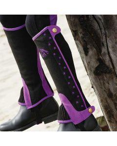 NORTON Mini-Chaps, zweifarbig mit Sternen bestickt schwarz/violett