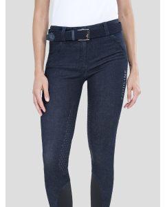 Equiline Jeansreithose für Damen mit Halbbesatz CALYK