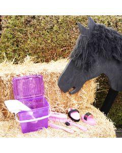 L-Sport Putzbox für Holzpferd-lila/rosa