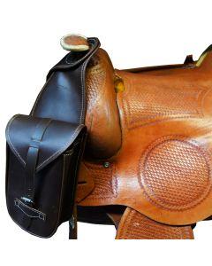 L-Sport Packtasche Leder vorne für Westernsättel mit Horn
