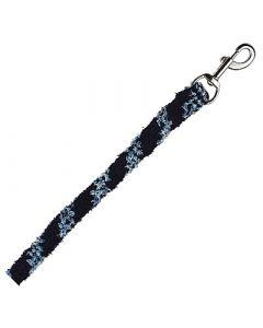Anbindestrick aus weichem Polyester marine/hellblau