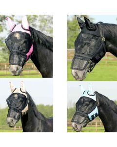 QHP Fliegenschutzmaske für Fohlen Shettys und Mini-Shettys mit abnehmbarer Nasenklappe