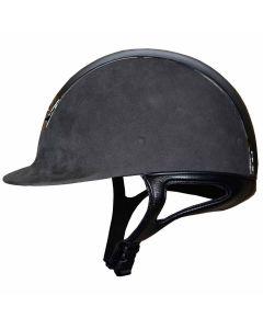 Samshield Premium Alcantara Grau Leder Schwarz Chrome Schwarz