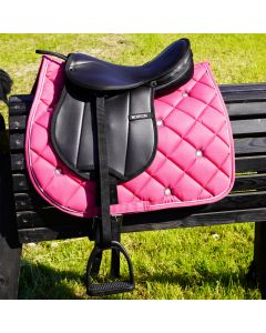 L-Sport Komplettset Sattel large mit Schabracke für Holzpferd-pink