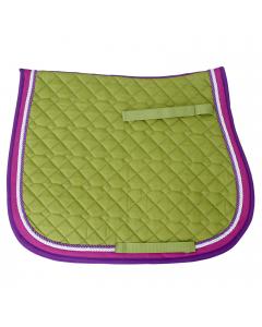 Baumwollschabracke, apfelgrün/pink/lila, Pony, VS