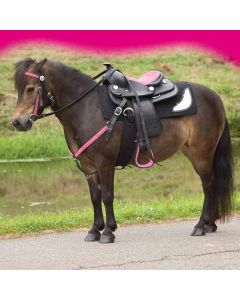 Synthetik Westernsattel Think Pink, für Pony