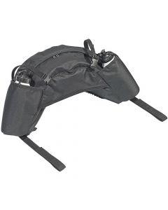 Satteltasche Packtasche Bananenform + Trinkflaschen schwarz