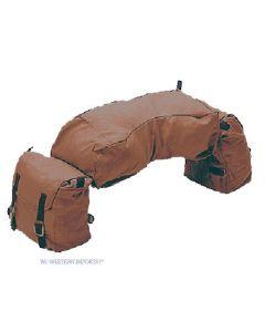 WI Western Imports 3 Pocket Packtasche aus Canvas Leinen braun 2.Wahl
