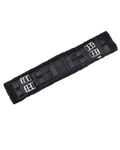 elastischer Kurzgurt mit Kunstfell schwarz