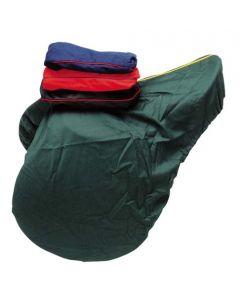 Sattelschutzbezug aus Baumwolle grün, rot, blau