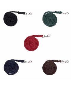 Anbindestrick Cotton mit Karabinerhaken -verschiedene Farben-