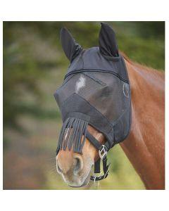 AWA Fliegenmaske mit Nasenfransen schwarz