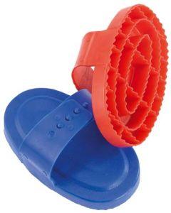 Plastikstriegel-oval-verschiedene Farben blau/rot/grün