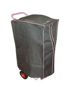 EQUI-THÈME Hülle für Sattelwagen grau/rosa