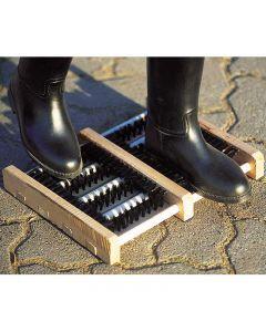 Holzmatte Fußabtreter mit Bürsten