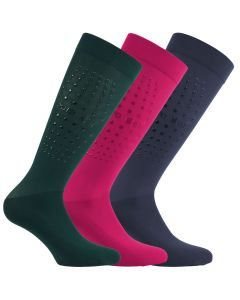 Euro Star Reitsocken ALPHA mit Grip 3er Pack