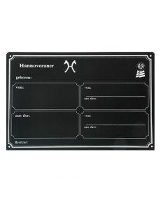 Stalltafeln Boxenschilder mit Brandzeichen