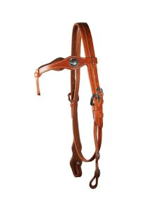 WI Western Imports Westerntrensenzaum knotted Headstall silver Conch