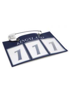 Kingsland,einzelne Startnummer für Schabracke navy