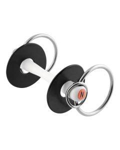 NATHE Stange Standardgebiss mit seitlichen kleinen Ringen