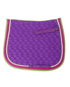 Baumwollschabracke, lila/pink/apfelgrün, Warmblut, VS