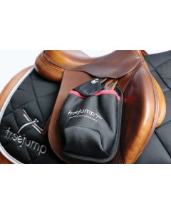 FREEJUMP Steigbügelschutzhülle Stirrup Pocket-schwarz-rot